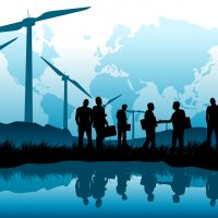 A green future - New energy business concept.