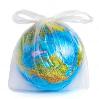 Model Planet Earth (globe) In Polyethylene Plastic Disposable Pa